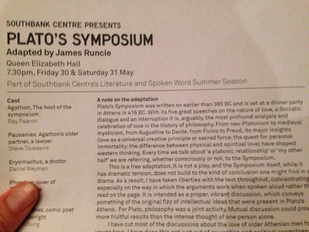 platos symposium analysis