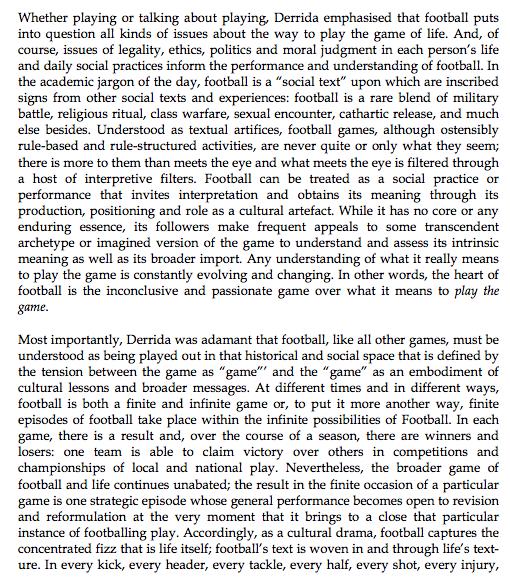 Derrida on football