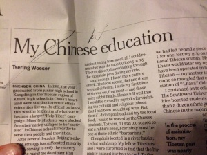 my Chinese education