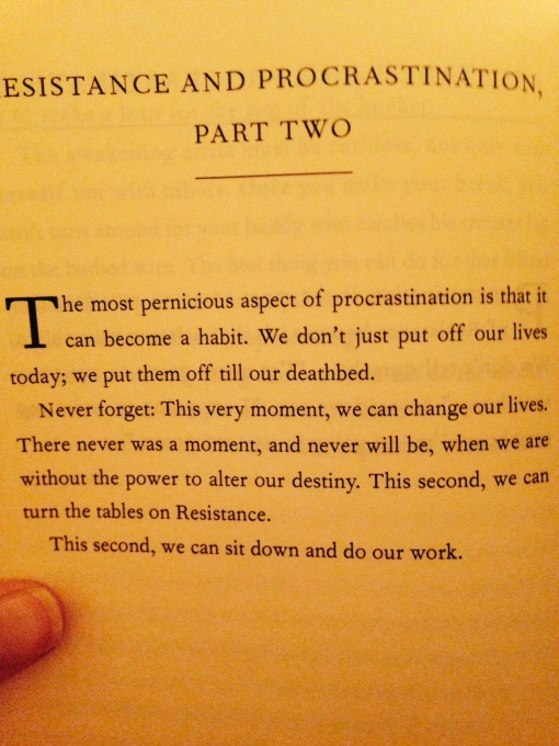 resistance and procrastination